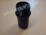 Lampholder black E27 with switch