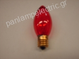 Decorative candle lamp 130V 7W E17 red