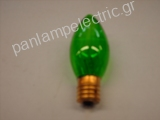 Decorative candle lamp 130V 7W E17 green
