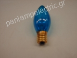 Decorative candle lamp 130V 7W E17 blue
