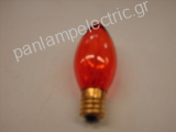Decorative candle lamp 130V 7W E17 amber