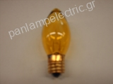 Decorative candle lamp 130V 7W E17 yellow