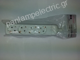 4 holes socket schuko without cable
